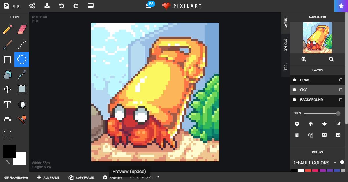 Pixilart - Free online pixel art drawing tool